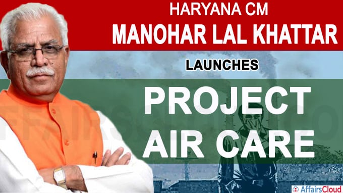 Haryana CM launches 'Project Air Care'