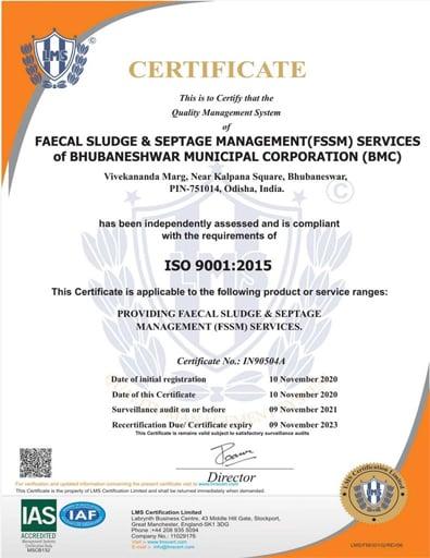 ISO Certificate Bubaneswar