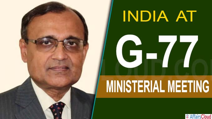 India at G-77 ministerial meeting