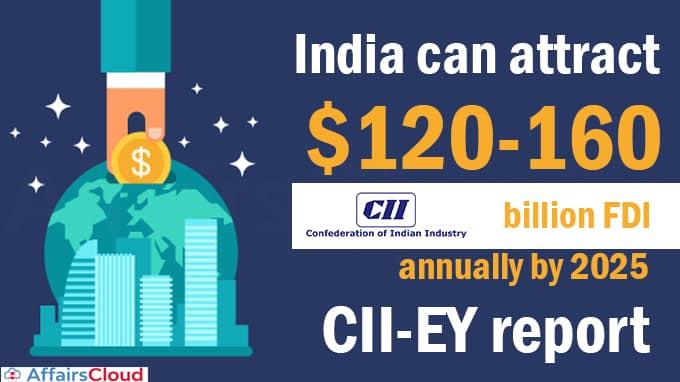 India-can-attract-$120-160-billion-FDI-annually-by-2025