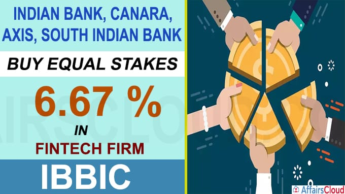 Indian Bank Canara Axis South Indian Bank buy equal stakes in fintech firm IBBIC