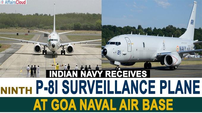 Indian Navy receives ninth P-8I surveillance plane at Goa