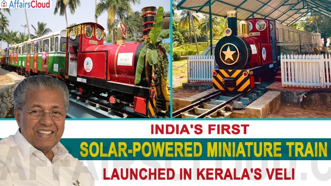 India's first solar-powered miniature train launched in Kerala's Veli