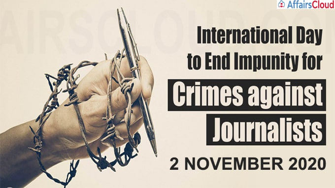 International Day to End Impunity for Crimes Against Journalists 2020