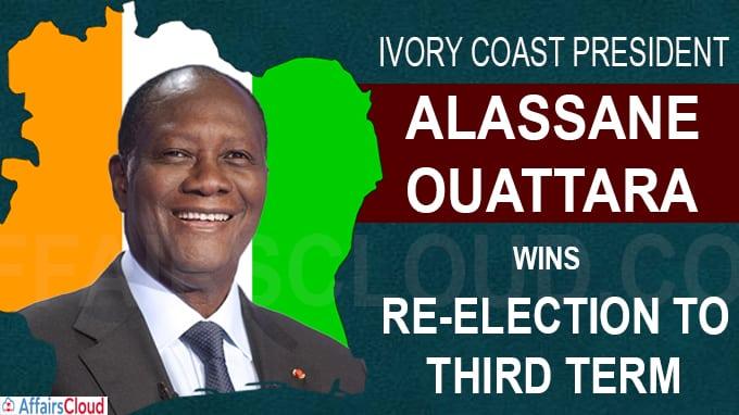 Ivory Coast President Alassane Ouattara wins re-election to third term