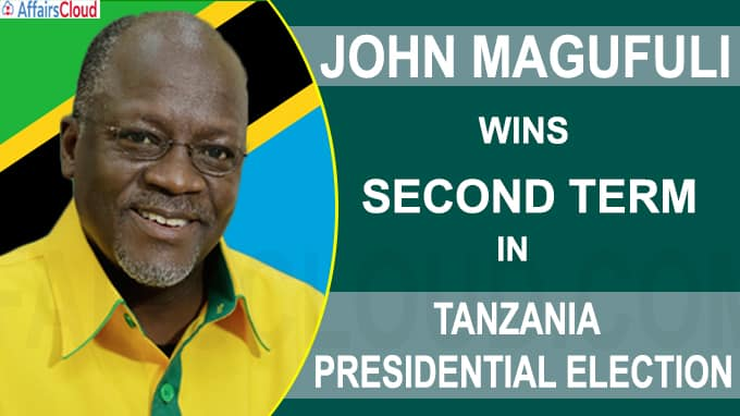 John Magufuli wins second term in Tanzania presidential election