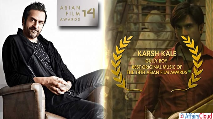 Karsh Kale Salvage Audio Collective win best music for Gully Boy at Asian Film Awards