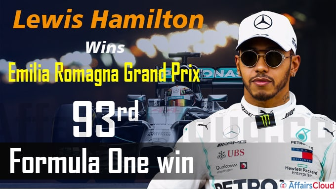 Lewis Hamilton wins Emilia Romagna Grand Prix for 93rd Formula One win