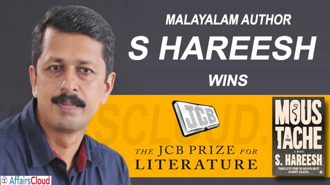 Malayalam author S Hareesh wins the JCB Prize for Literature 2020