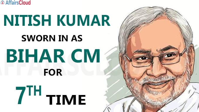 Nitish Kumar returns as Bihar CM for seventh time in 20 years