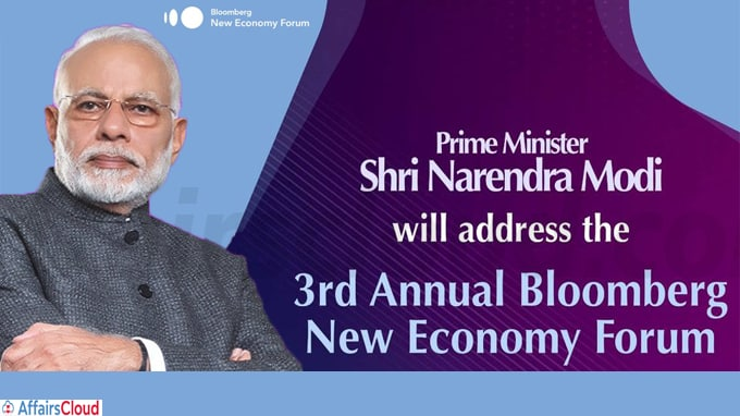 PM Modi addresses 3rd Annual Bloomberg New Economy Forum