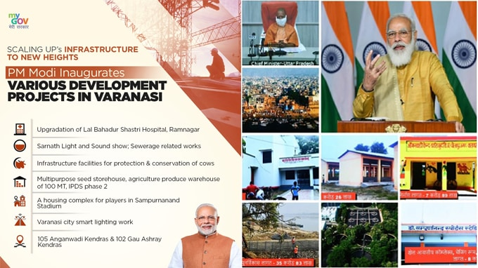PM-Modi-inaugurates,-lays-foundation-stone-of-various-projects-in-Varanasi