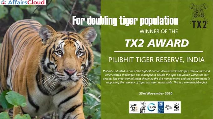 Pilibhit-Tiger-Reserve-gets-global-award-for-doubling-tiger-population