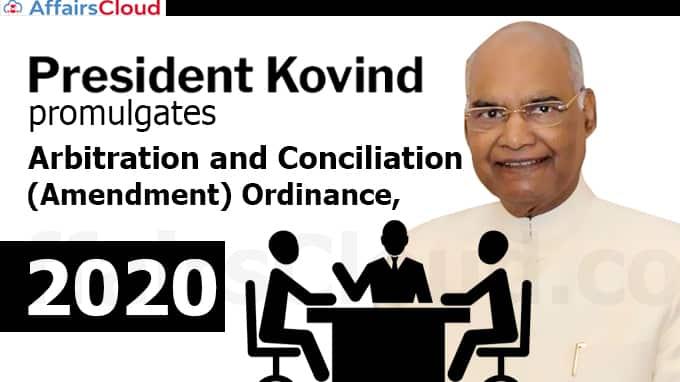 President-Kovind-promulgates-Arbitration-and-Conciliation-(Amendment)-Ordinance,-2020