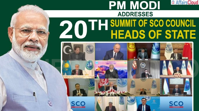 Prime Minister addresses 20th Summit of SCO Council of Heads of State
