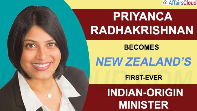Priyanca Radhakrishnan becomes New Zealand s first ever Indian-origin minister