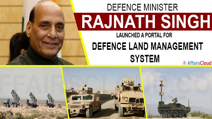 Rajnath launches portal for defence land management system