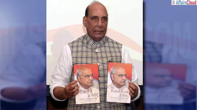 Raksha Mantri Shri Rajnath Singh Releases selected speeches of President Shri Ram Nath Kovind