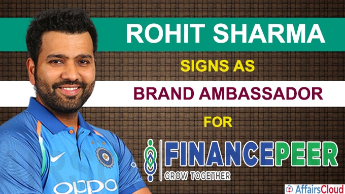 Rohit named brand ambassador of Financepeer