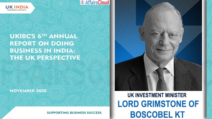 UK Investment Minister launched The 'Doing Business in India Report 2020' UKIBC