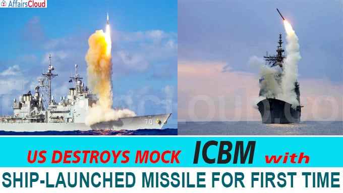 US destroys mock ICBM with ship-launched missile for first time