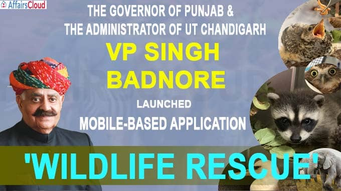 VP Singh Badnore launched the mobile-based application 'Wildlife Rescue'
