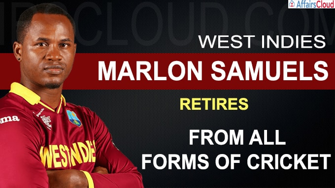 West Indies Marlon Samuels retires from all forms of cricket