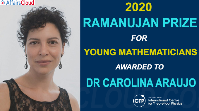 2020 Ramanujan Prize for Young Mathematicians awarded to Dr Carolina Araujo