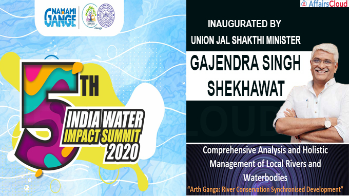 5th India Water Impact Summit (IWIS) held from dec 10- 15, 2020