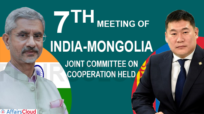 7th Meeting of India-Mongolia Joint Committee on Cooperation held