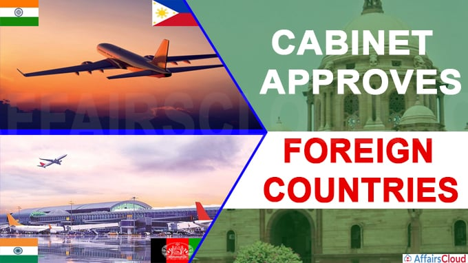 Cabinet approval with foreign countries