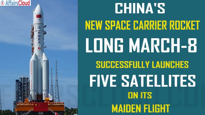 China's new space carrier rocket successfully launches five satellites on its maiden flight