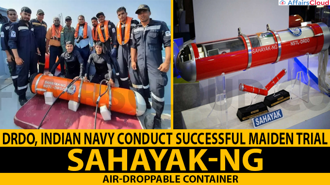 DRDO, Indian Navy conduct successful maiden trial of SAHAYAK-NG