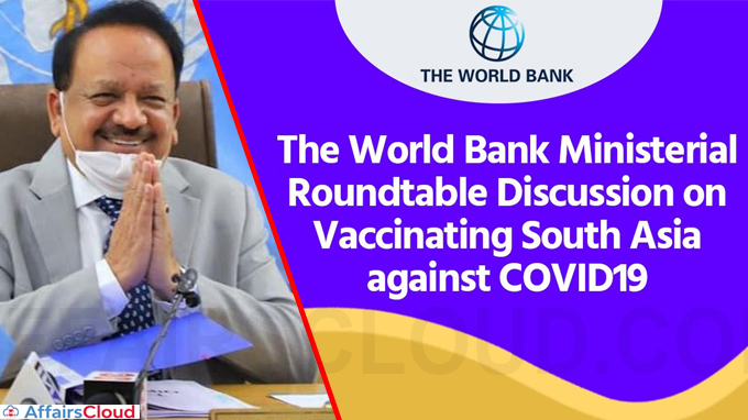 Dr Harsh Vardhan addresses World Bank Inter Ministerial Meet