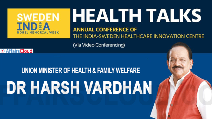 Dr Harsh Vardhan chairs the India Sweden Healthcare Innovation Centre