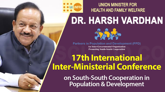 Dr Harsh Vardhan digitally addresses the Inter Ministerial Conference by Partners