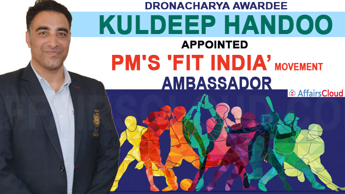 Dronacharya Awardee Kuldeep Handoo from J&K appointed PM's 'Fit India' Movement Ambassador