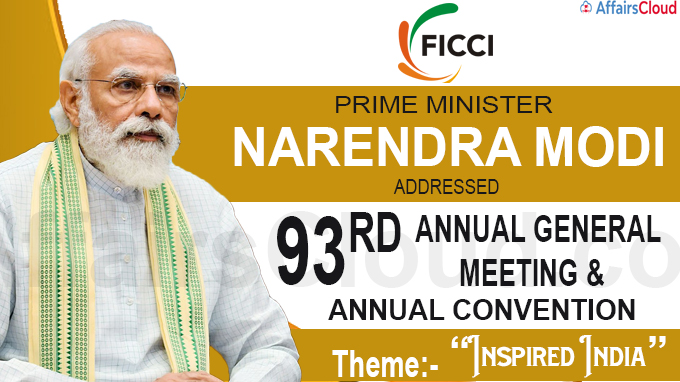 FICCI's Annual Convention & 93rd Annual General Meeting