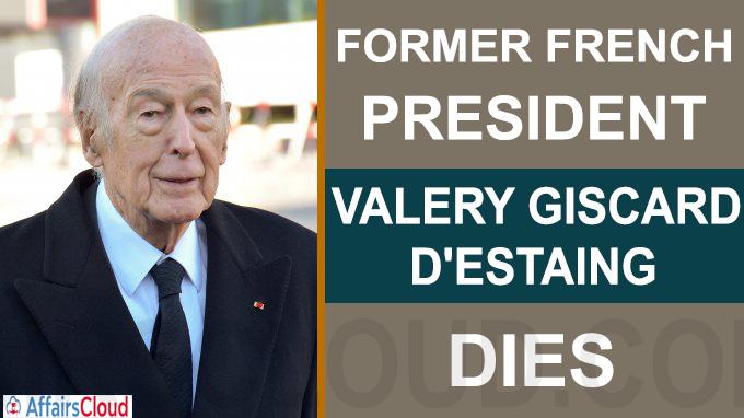 Former French president Valery Giscard