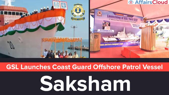 GSL-Launches-Coast-Guard-Offshore-Patrol-Vessel-'Saksham'