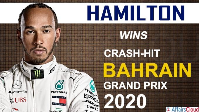 Hamilton wins crash hit Bahrain Grand Prix