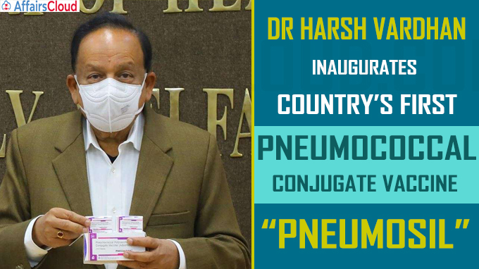 Harsh Vardhan inaugurates Country's First Pneumococcal Conjugate Vaccine