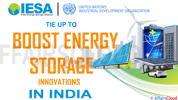 IESA, UNIDO tie up to boost energy storage innovations in India