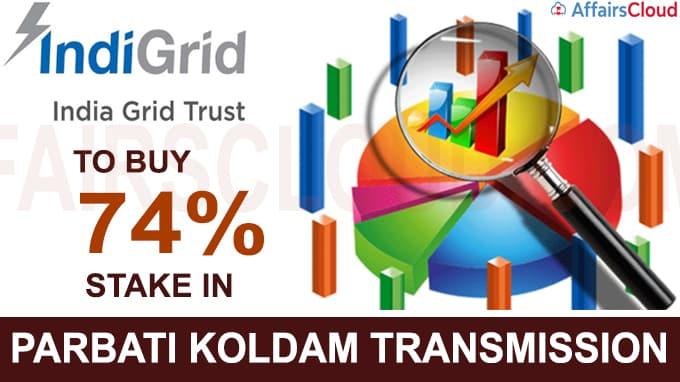 IndiGrid to buy 74% stake in Parbati Koldam Transmission