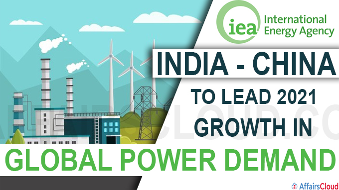 India, China to lead 2021 growth in global power demand