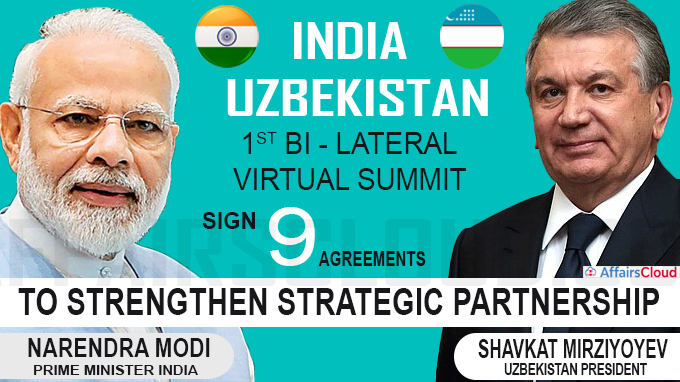 India and Uzbekistan sign nine agreements to strengthen strategic partnership new