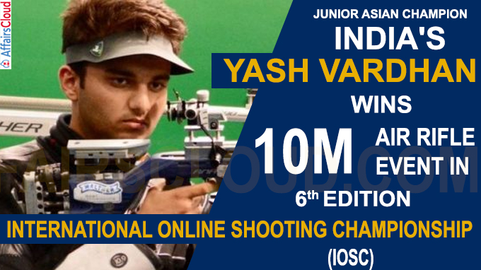 India's Yash Vardhan wins 10m air rifle event in online meet