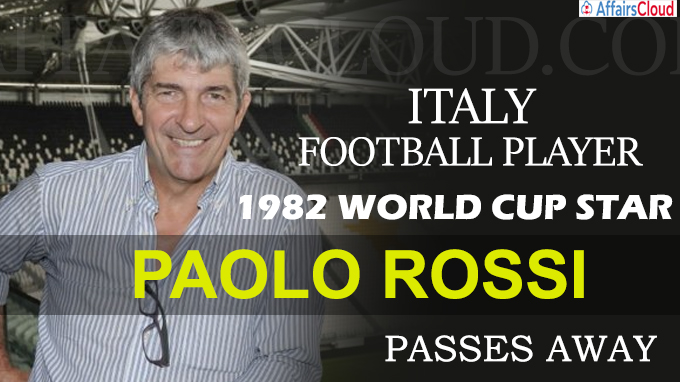 Italy great and 1982 World Cup star Paolo Rossi passes away