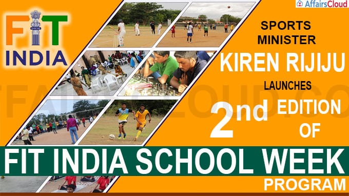 Kiren Rijiju launches 2nd edition of 'Fit India School Week' program