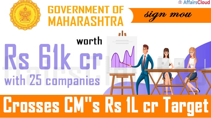 Maha signs MoUs worth Rs 61k cr